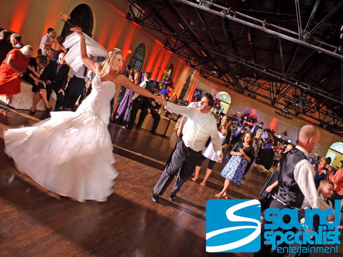 Louisville Wedding Up Lighting at the Mellwood Arts Center