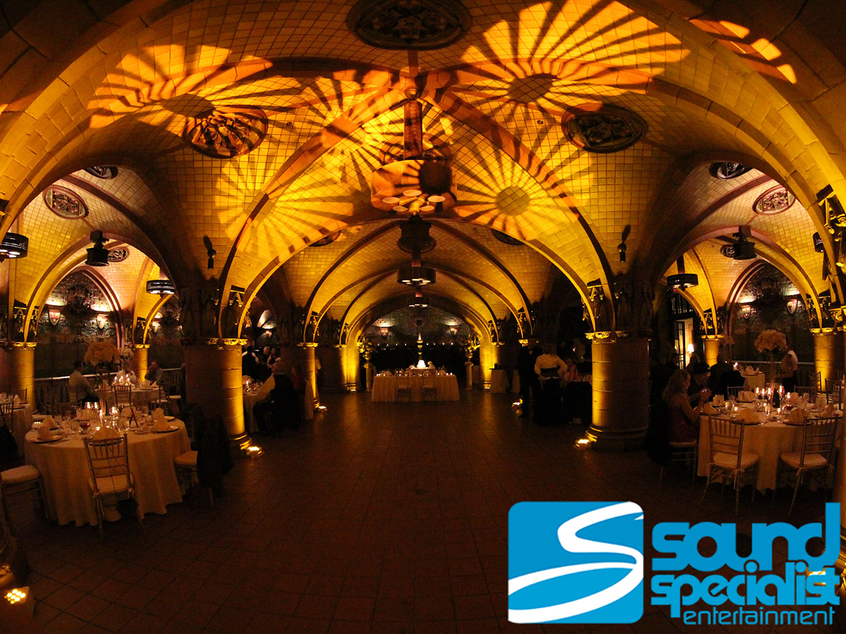 Candlelight Up Lighting for a Louisville Wedding at the Seelbach Hotel Rathskeller Room